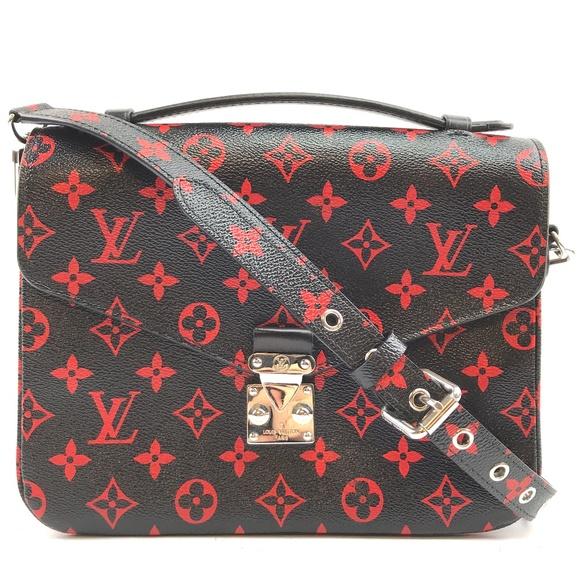 Louis Vuitton Handbags - Pochette Metis Infrarouge Red Canvas Cross BodyBag